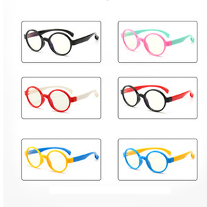 Kids Anti-blue Light Glasses Child Anti-UV Radiation Protection Computer Goggles Flexible Frame Eyeglasses Girl Boy Children Glasses LJJW157