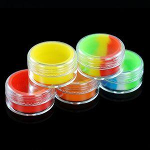Contenitori di concentrato di cera acrilica trasparente da 7 ml, contenitore di plastica con silicone interno antiaderente Dab BHO vasetti di stoccaggio di olio secco di olio di hash BHO