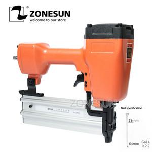 ZONESUN acier ST64 Fer cloueuse pneumatique Micro Pinner cloueuse Air Brad Pin Gun pour meubles en bois Canapé travail du bois Air Agrafeuse