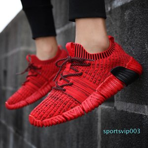 Sneakers Mens Running Shoes Outdoor Lace up Adult Sports Shoes Men Knit Upper Breathable Comfortable Low Boots Jogging Run