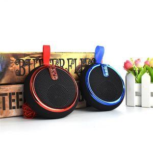 2021 Popüler Sıcak Yuvarlak Kablosuz BT Hoparlör Bluetooth Radyo FM Taşınabilir Kemer Bisiklet Dağı MP3 Boombox Caixa De Som Alto Falante vs Klip Bocina