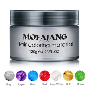 Pomade mumu geri saç şekillendirme Mofajang Pomade Güçlü tarzı için Mofajang saç balmumu büyük iskelet 9 renkleri slicked 120g