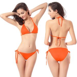 Горячие Оптовая Классическая Bikini Set Wild Sexy Дешевые Купальники Женщины Strappy бикини Купальные костюмы женский купальник Dropshipping