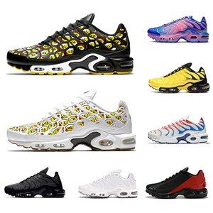 Nike Air Max plus  Roche Pebbles Phantom TN plus SE Mens Chaussures de course Fréquence Pack All Over impression noir Fade bleu peinture en aérosol chaussures de sport pour hommes