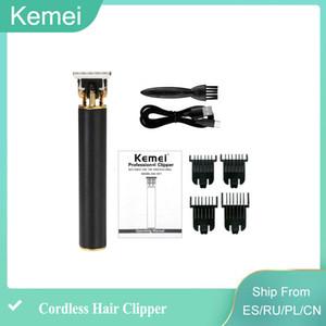 New Kemei 1971 Pro Li T-Outliner Skeleton Heavy cilpper Hitter Cordless Trimmer Men 0mm Baldheaded Hair Clipper Finish Hair Cutting Machine