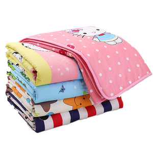 Newborn baby changing mat cotton cartoon changing mat waterproof breathable washable changing mat-size Baby Nappy Pad