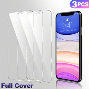 3Pcs Full Cover Tempered Glass On For iPhone 11 Pro Max Protective Glass Film On iPhone X XR XS Max Screen Protector Curved Edge