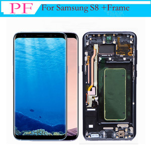 Per Samsung Galaxy S8 Edge LCD originale con cornice Touch Screen Digitizer Assemblaggio completo Schermo LCD di ricambio G950F G950A G950P G950V G950T