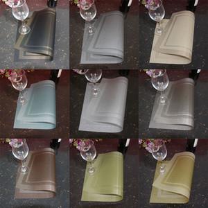 Mesa placemat Cozinha Bar Tapete PVC Placemat Quadrado Cozinha Ferramenta Mesa De Jantar Esteiras Tigela Pad Mesa Decoração Bar de Jantar Pads WX9-1280
