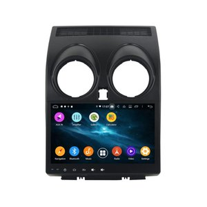"KLYDE 10.1"" Core 6 Android 9.0 Car Multimedia Player 6 Core Para Qashqai 2013-2015 Radio 1024 * 600 estéreo PX6 Audio DVD del coche + 4G 64G"