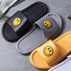 smiley Summer new couple home indoor and outdoor soft bottom PVC slippers bathroom non-slip sandals