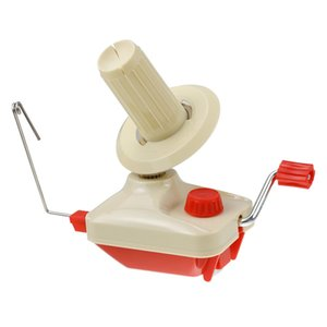 Máquina para hacer punto de mano husos de fibra secuencia de la bola línea sinuosa Manual de lana de la devanadera de la bobina de costura Accesorios