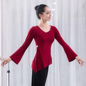 Giyim Dansçı Aşınma Giyim Dancing Satış Kadınlar için Yetişkin Modal Bölünmüş Oryantal Latin Belly Dance En Uzun Kollu Gömlek Kostüm