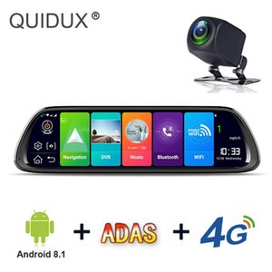 Android 8 .1 Car Rearview Mirror Dvr Camera Gps Navigation Fhd Dash Cam Video Recorder Bluetooth Wifi 10 4g Adas Dual Lens Car Dvr
