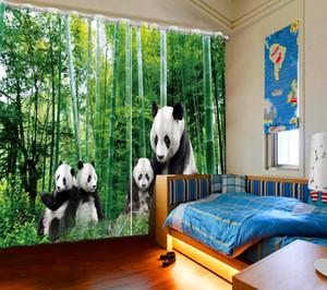 Creative 3D Rideau Beau Trésor National Panda Peinture Salon Chambre Décoration Rideaux