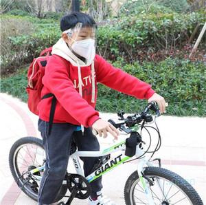 2020 Unisex Anti-sis Koruyucu Yüz Maskesi HD Şeffaf Şeffaf Çocuk Çocuk Yetişkin Tam Yüz Sıçrama Çeker dayanıklı Yüz Cap Emniyet E22904 Maskesi