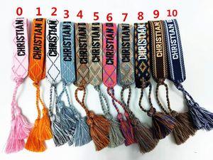 Mode de coton amitié Bracelets, femmes Bracelets main avec pompons comme cadeau et des cadeaux. Designer inspiré Bracelets tissage