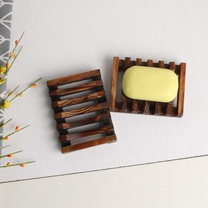 Natural Bamboo Wooden Soap Dishes Wooden Soap Tray Holder Storage Rack Plate Box Container Bath Soap Dishes H146 025