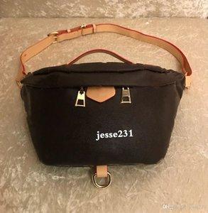 Wholesale New Fashion Pu-Leder Brown Blume Handtaschen Frauen Taschen Designer Gürteltaschen Berühmte Gürteltaschen Handtasche Lady Belt Brusttasche