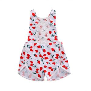 Marchi floreale cotone stampato estate del bambino pagliaccetti Vintage Baby Girl pagliaccetto pizzo floreale Tuta vestiti del bambino 1-3years