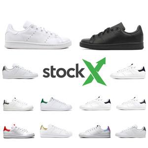 adidas stan smith Sapatos casuais Barato Raf Simons Stan Smiths Primavera Cobre Branco Rosa Preto moda Homem De Couro marca sapatos homem mulher Flats Sneakers