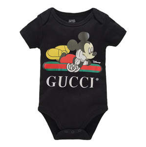 INS Sonbahar bebek erkek tulum tasarımcı çocuklar çizgili uzun kollu tulumlar bebek kız mektup romper erkek giysileri yaka