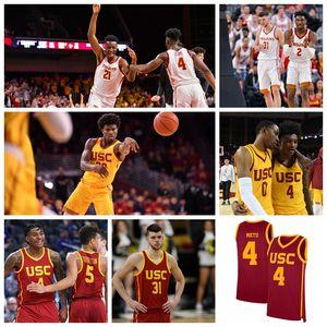 USC Trojans Jerseys Onyeka Okongwu Jersey Nick Rakocevic Kyle Sturdivant Daniel Utomi Elias Weaver New Basketball camisas personalizadas costurado