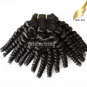 Bella Hair? Funmi Hair New Style Human HairWeft 8A Peruvian Virgin Hair Aunty Funmi Sprial Curl Unprocessed Natural Color Human Hair Weaves