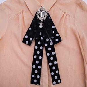 i-Remiel женский многослойная Лента горный хрусталь пятнистый галстук-бабочка брошь галстук рубашка костюм воротник аксессуары галстуки подарки для женщин