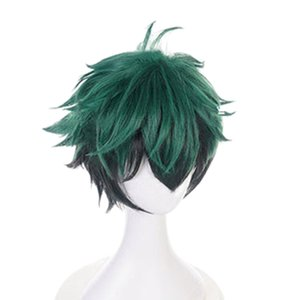 10inch Unisex reta curta Cosplay peruca elegante coloridos para Halloween