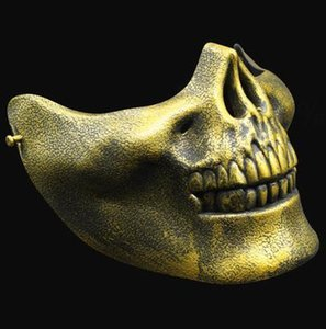 Noël Demi visage Skeleton Guerriers Masques de protection du crâne Masque des masques de mascarade de Halloween Terror CS Games