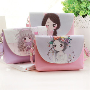 Cartoon Printing Kids Baby Messenger Bags Clutch Women Crossbody Bag Female Shoulder Bags For Girls Party Handbags BFJ628