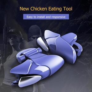 L + R Métal Mobile Téléphone Gamepad Joystick Controller Blue Shark pour PUBG Feu Clé Bouton Trigger Pour iOS Android Gamepads Chaud Sal