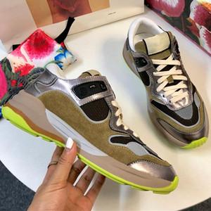 Nueva llegada Ultrapace Sneaker Womens Mixed Media Sneakers Zapatos de diseñador de moda de lujo Mujer Vintage Classic Running Tamaño del zapato 35-41 Caja