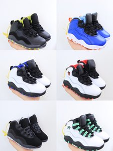 2020 Bred XI jam 10S Kids Basketball Shoes Gym Red Infan &Children toddler Gamma Blue Concord 10 trainers boy girl sneakers size25-35
