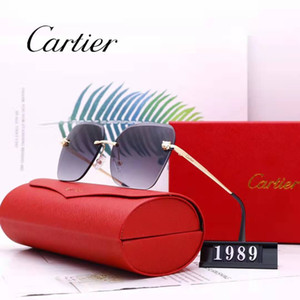 desinger sunglasses hexagonal flat glass lenses for men women male female sunglasses with brown or black case, cloth, paper box, accessories