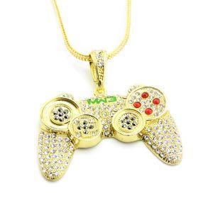 Fashion-Hip Hop gioielli collana di modo dell'oro ha ghiacciato fuori PS4 controller di gioco della collana del pendente per gli uomini