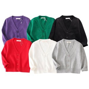 2020 New Arrival Fashion Children Baby Kids Girl Boy Knitted Sweater Cardigan Tops Outfit Colorful Tees