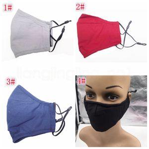 Твердые дышащий моющийся хлопка маски для мужчин и женщин, чтобы предотвратить туман РМ2,5 пылезащитный ушной дизайнер маски FFA4084-1