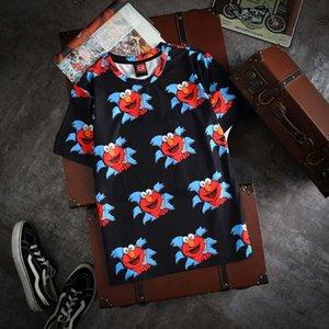 Мужские футболки Мода лета женщин T Shirt Uniqlo * Kaws * Улица Сезам футболка унисекс Топы Hot Version