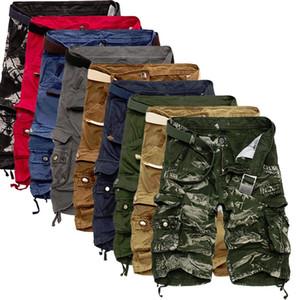 Verano holgado del cargo cortocircuitos de la manera de los hombres calientes de la venta informal de algodón de camuflaje suelta Herramientas cortocircuitos más el tamaño 29-40 sin cinturón