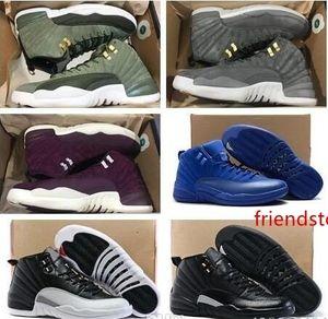 Designer New 2019 pas cher 12 XII Mans Chaussures de basket 12s Jeu Plum Fog Flu Basketball Chaussures Taxi Maître Sneakers chaussures