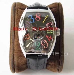ABF 공장 8880 CH COL DRM 손목 시계 리얼 점프 시간 스테인레스 스틸 케이스 판 블랙 다이얼을 다채로운 숫자는 기계 시계 A2824