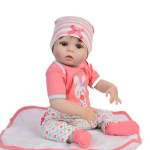 55cm Silicone Reborn Baby Doll Toys Réaliste corps en vinyle nouveau-né bébés bebes Reborn poupée cadeau d'anniversaire filles Brinquedos