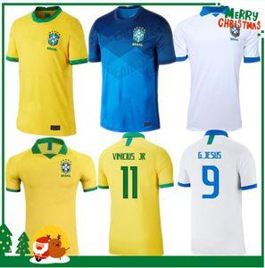 2020 البرازيل لكرة القدم جيرسي NEYMAR JR COUTINHO باولينيو MARCELO G JESUS 2021 البرازيل COSTA بعيدا المنزل رجل قميص كرة القدم