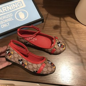 Leather shoes hot sale girls brand leather shoes leather soft bottom princess shoes beach sandals