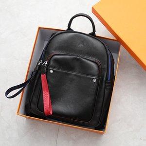 2020 Couro de Handmade Lazer Mulheres Backpack 100% couro macio Genuine menina Backbag alta qualidade Grande Viagem Voltar saco preto
