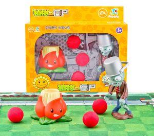 Plants vs Zombies La figura de acción juguetes para niños plantas de lanzamiento PVZ Peashooter guisante tirador de chile rojo Figura modelo de juguete