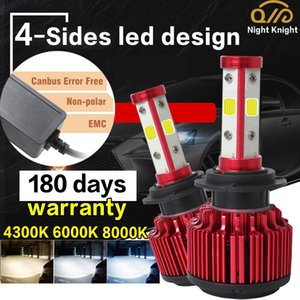2 Pieces Four sides Car LED Headlight Canbus 16000LM H4 H1 H7 H8 H9 H11 H16 9005 HB3 9006 HB4 Auto Fog lamp Bulb