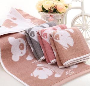 Serviette de Bain Bébé Ours Imprimé Mouchoir Manger le Nouveau-Séchage Mignon Infant Serviette Confortable 25 * 50 cm